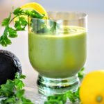 Pineapple Avocado Cilantro Summer Smoothie